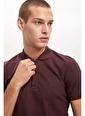Defacto –Fit Polo Yaka Slim Fit Tişört Bordo